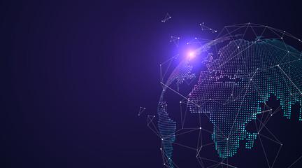 Fototapeta 3D earth graphic symbolizing global trade, vector illustration.