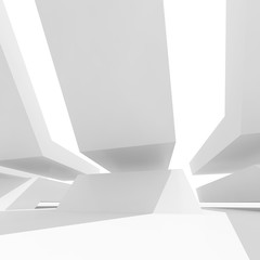 Abstract architectural background. Square 3d render