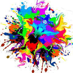 abstract background with colorful splashes and splashes