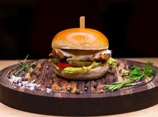 Restaurant dish - beef hamburger