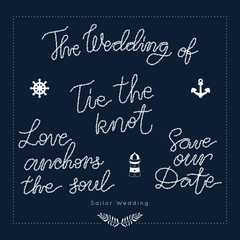 Nautical wedding vector design