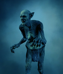 Goblin fantasy folklore creatures,3d rendering