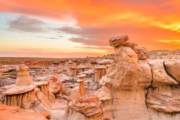 Fototapete - Bisti Badlands, New Mexico, USA