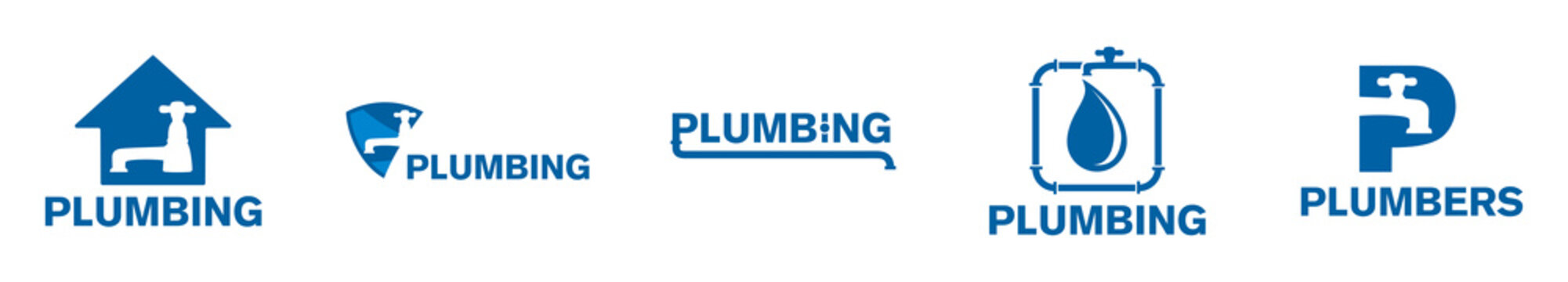 Vector logo of plumbing and water supply company