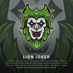 The lion joker face