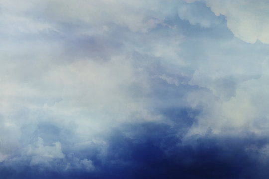 Image of stormy sky and clouds