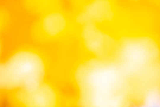 Autumn yellow blurred background