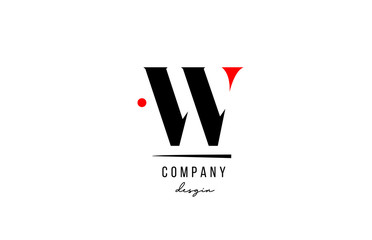 W letter logo alphabet design icon for company and business