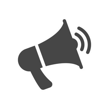Megaphone, loudspeaker icon in flat style isolated on white background. Vector illustration.