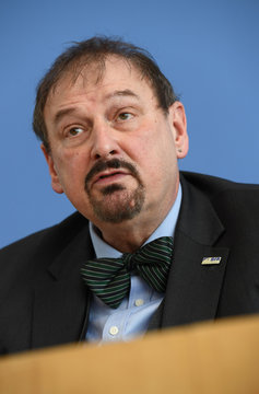 President of the Federal Institute for Risk Assessment (BfR) Andreas Hensel attends a news conference in Berlin
