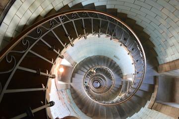Keuken foto achterwand Spiraal escalier intérieur phare d eckmuhl finistère bretagne