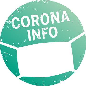 türkiser Button Corona Info