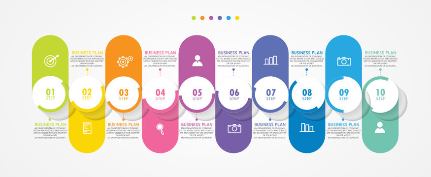 vector illustration Can be used for process, presentations, layout, banner,info graph There are 13 steps or layers.