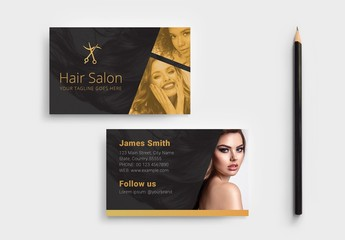 Hair Salon Business Card Layout
