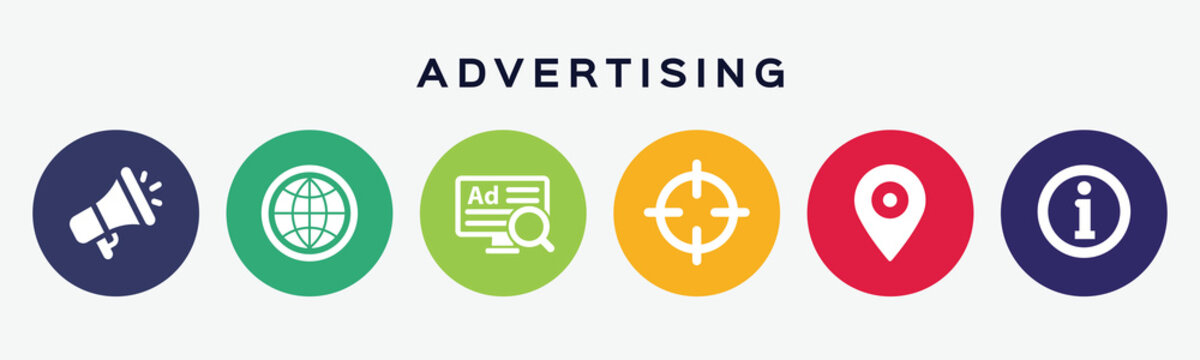 Vector concept of advertising icons.