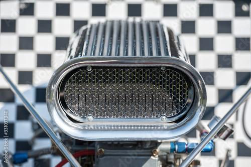Wall mural race car supercharger air scoop closeup