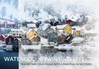 Watercolor Effect Mockup