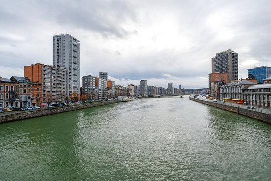 River Maas in Liège (Belgium)