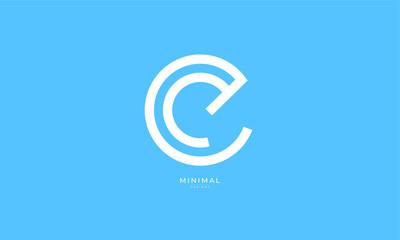 Alphabet letter icon logo EC or CE