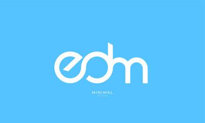 alphabet letter icon logo EDM