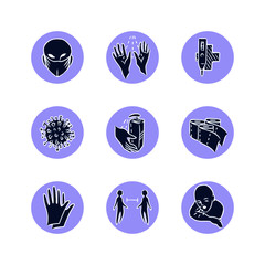 Corona pictograms