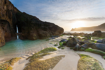 Wall Mural - Nanjizal Beach Sunset Cornwall England UK