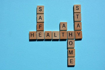 Stay, Safe, Home,  Healthy, crossword