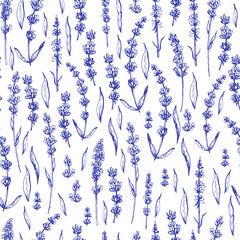 Graphic decorative seamless with lavender