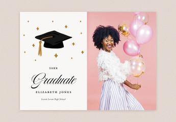 Graduation Photo Card Template Card
