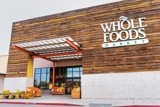Mar 8, 2020 San Jose / CA / USA - Whole Foods store located in Almaden Valley area of San Jose