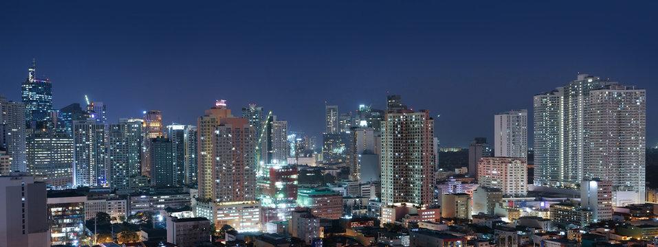Panorama view of Manila cityscape