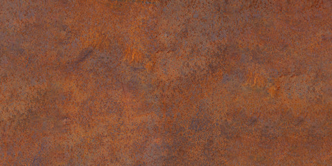 Foto op Plexiglas Metal Panoramic of old rusty oxidized eroded metal. Old metal corrosion sheet.