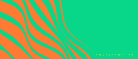 Wavy pattern with optical illusion. Abstract striped background. Vector illustration with wry lines.