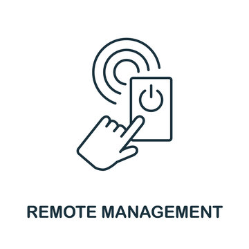 Remote Management icon from iot collection. Simple line Remote Management icon for templates, web design and infographics