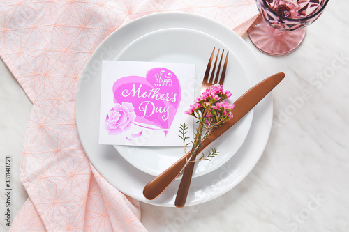 Beautiful table setting for Mother's Day celebration