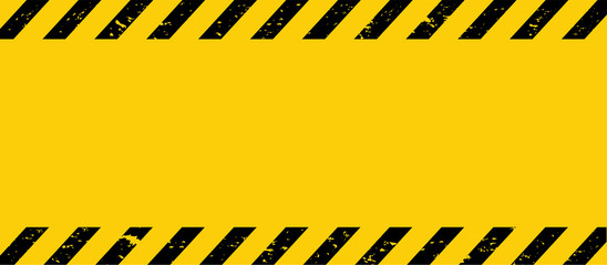 Black and yellow line striped. Caution tape. Blank warning background. Vector illustration