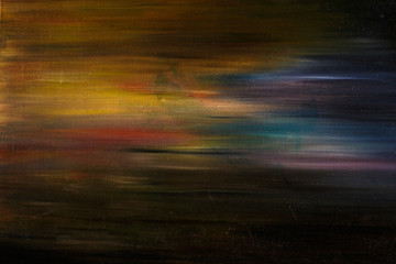 abstract texture made with oil paint on canvas, like the northern lights or a fantastic sky
