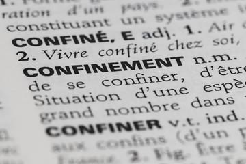 Spoed Fotobehang Kikker Confinement - définition du mot dans le dictionnaire français