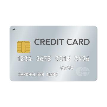 クレジットカードのベクターイラスト シルバー
