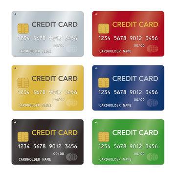 クレジットカードのベクターイラストセット