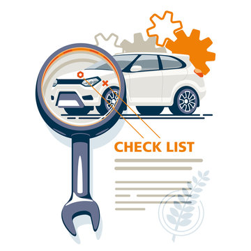 The diagnostic station detects car faults, draws up a checklist of all breakdowns and analyzes the state of the transport.
