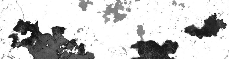 Panorama d'arrière-plan graphique de texture tâchée blanc et noir
