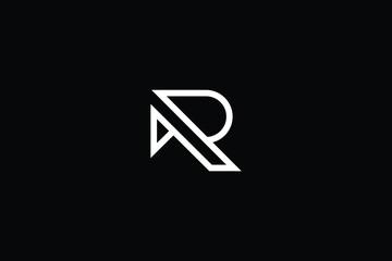 Minimal elegant monogram art logo. Outstanding professional trendy awesome artistic R RR initial based Alphabet icon logo. Premium Business logo White color on black background