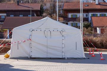 Navigable fever tent for corona virus diagnosis.