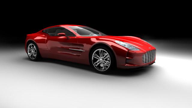 Roter Aston Martin