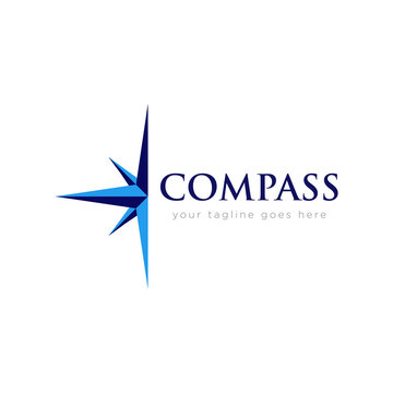 Compass Logo Flat Design
