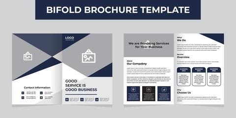 creative business bifold brochure template