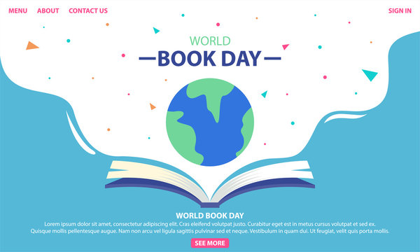 World Book Day. Designed to greeting or celebrate World Book Day.