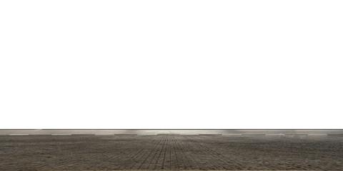 Fotomurales - Empty highway asphalt road on white background