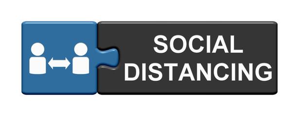 Puzzle Button zeigt Social Distancing